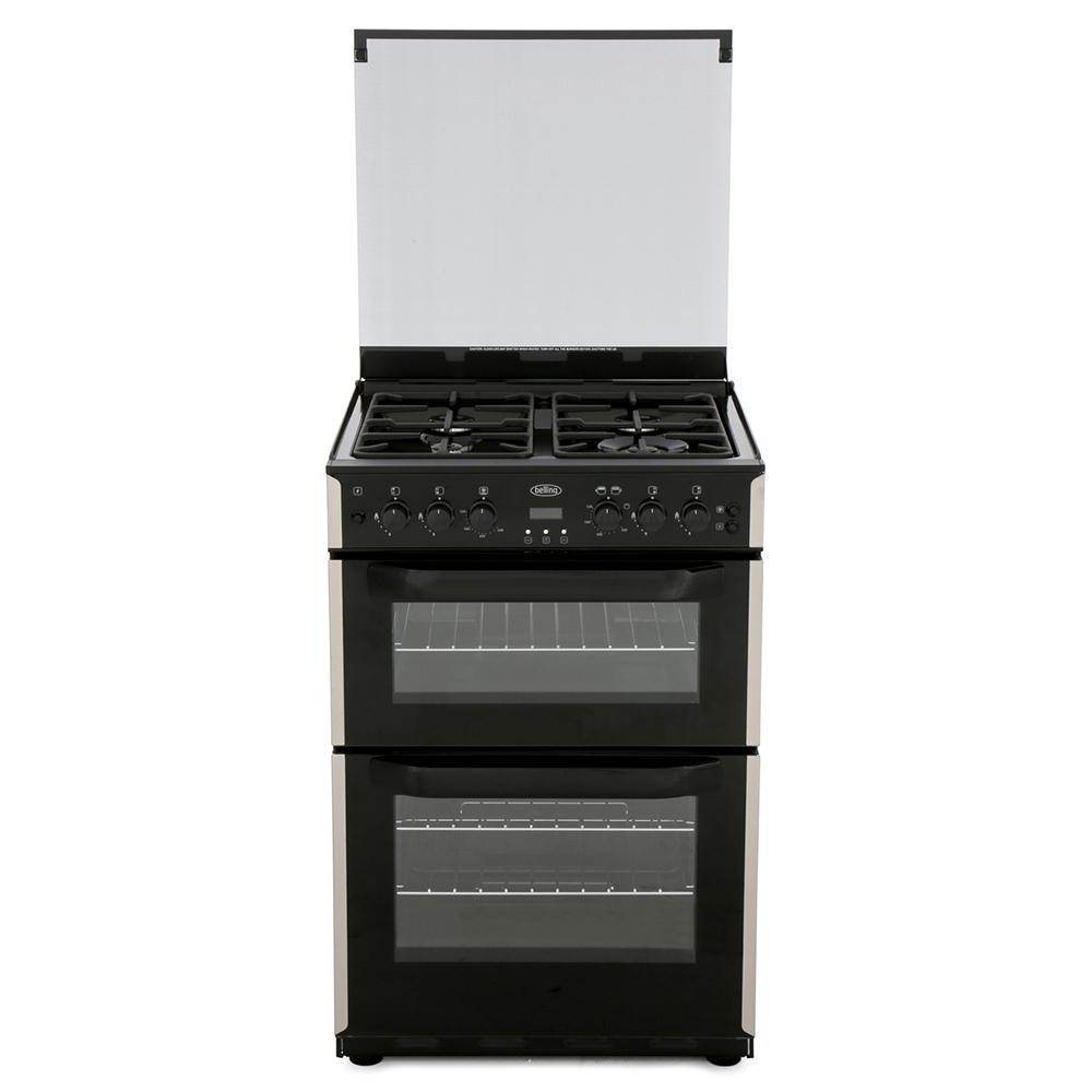 Belling CFG60DOF Stainless Steel Gas Cooker with Double Oven