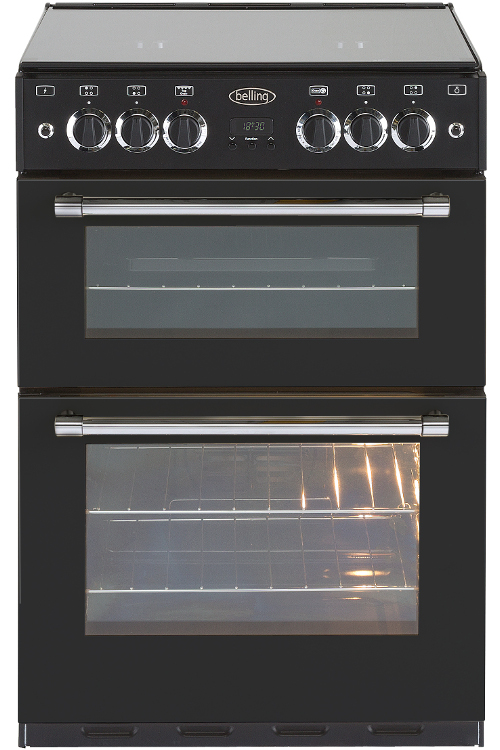 Belling Classic 60G Black Gas Cooker with Double Oven