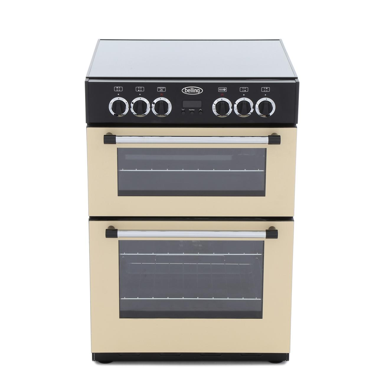 Belling Classic 60E Cream Ceramic Electric Cooker with Double Oven