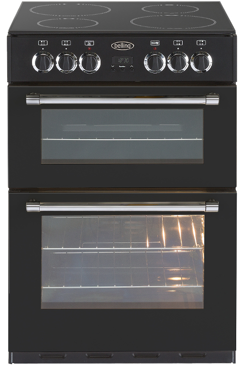 Belling Classic 60E Black Electric Cooker with Double Oven