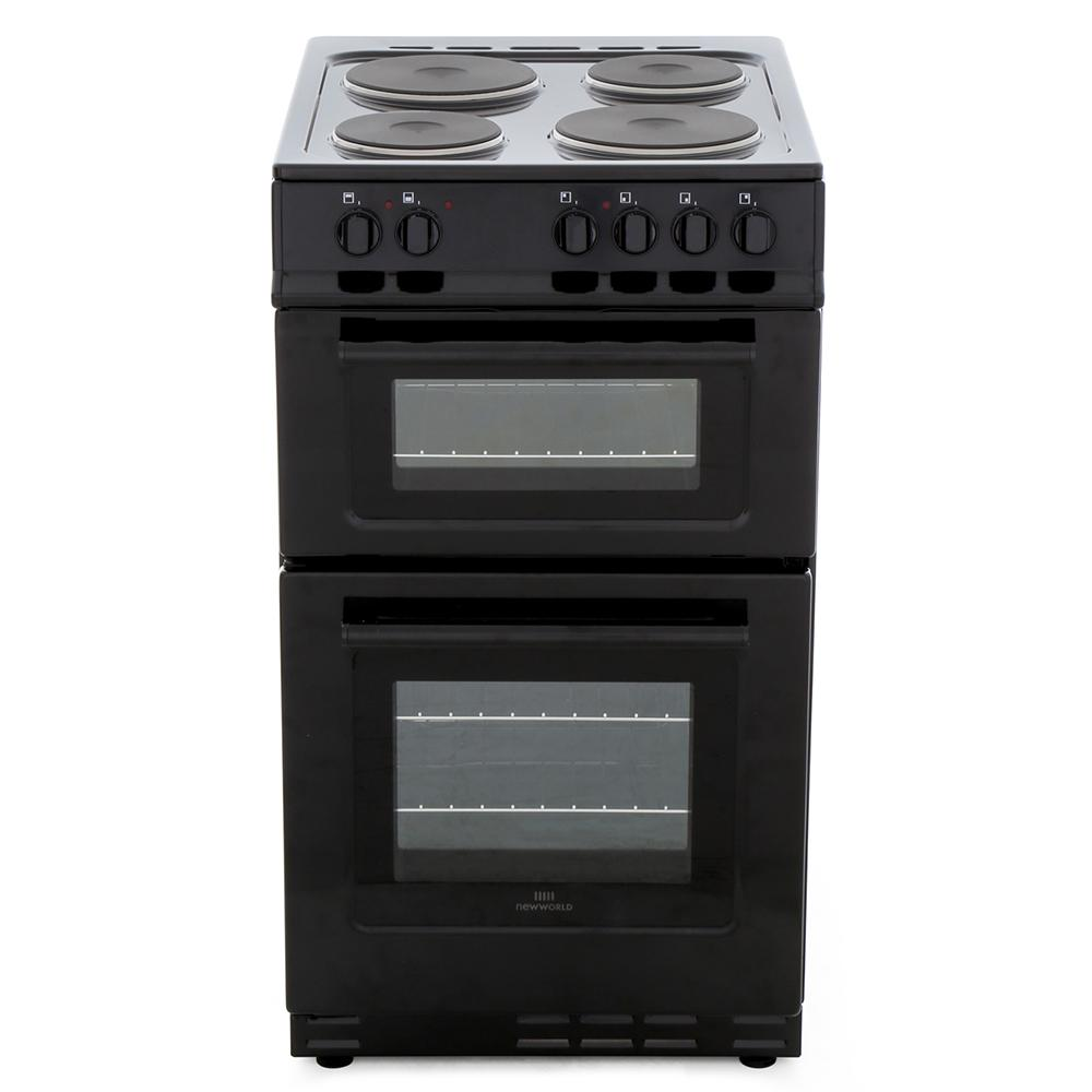 New World NW 50ET Blk Solid Plate Electric Cooker Separate Grill
