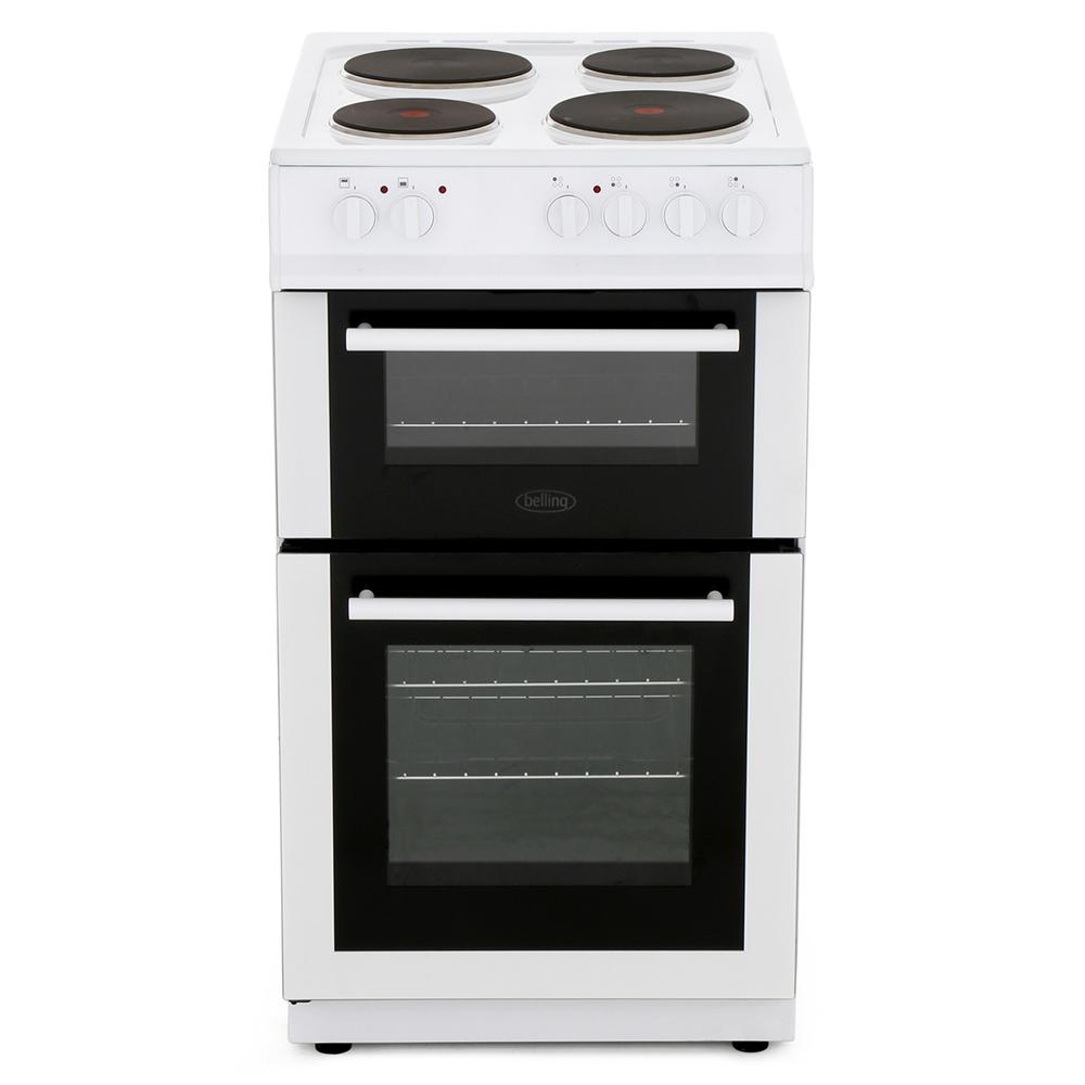 Belling FS50ET White Solid Plate Electric Cooker Separate Grill