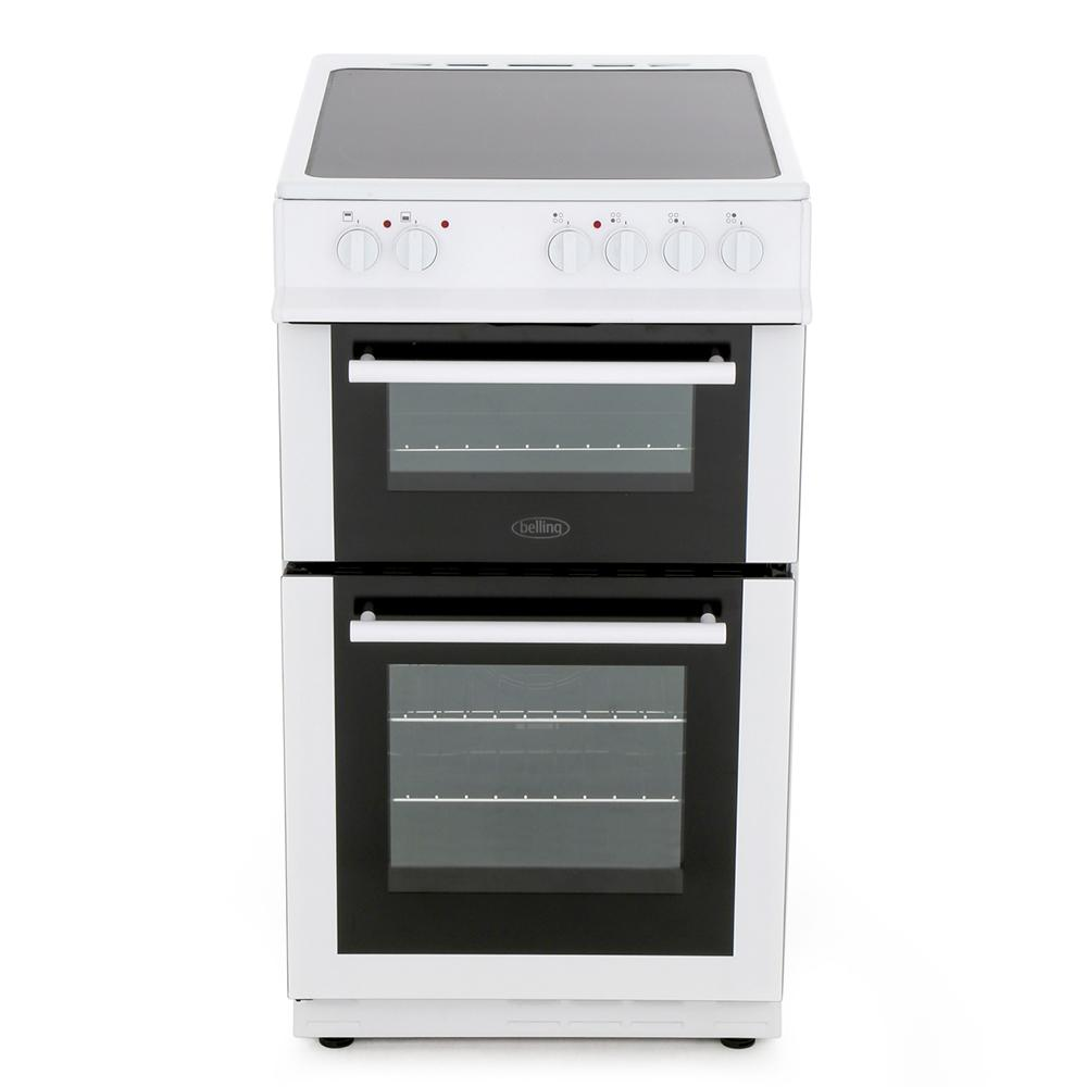 Belling FS50EDOFC White Ceramic Electric Cooker with Double Oven