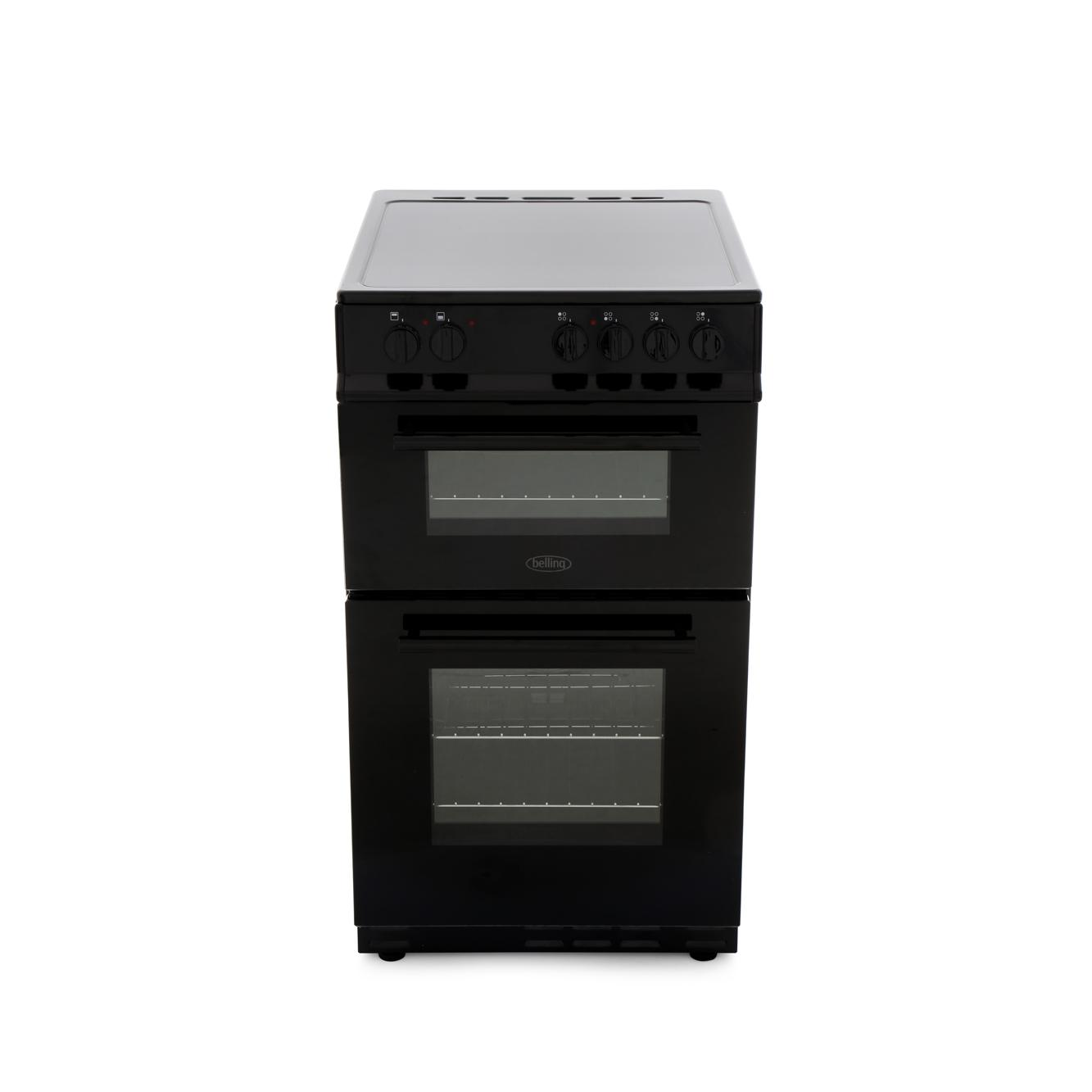 Belling FS50EDOFC Black Ceramic Electric Cooker with Double Oven