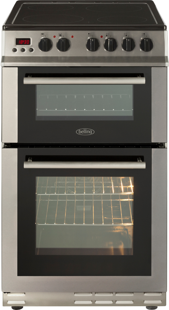 Belling FS50EDOPC Stainless Steel Ceramic Electric Cooker with Double Oven