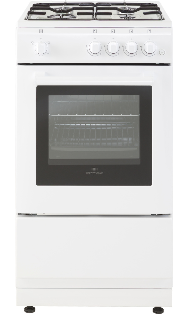 New World 50GSO White Gas Cooker with Single Oven