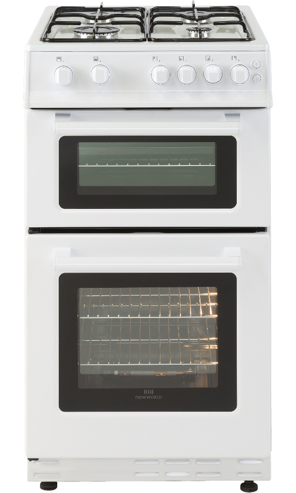 New World 50GTC White Gas Cooker Separate Grill