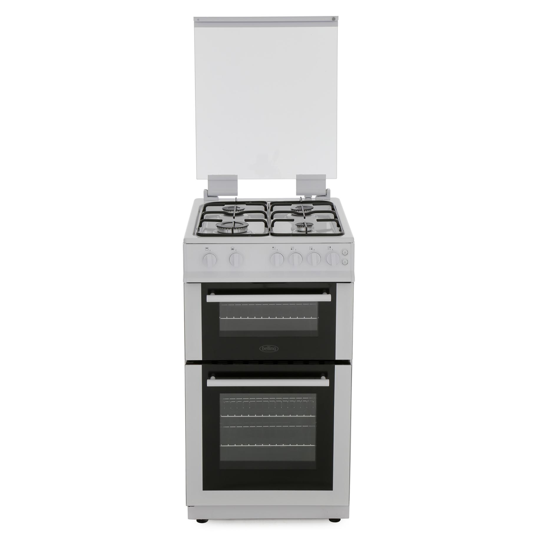 Belling BEL FS50GTCL Whi Gas Cooker Separate Grill