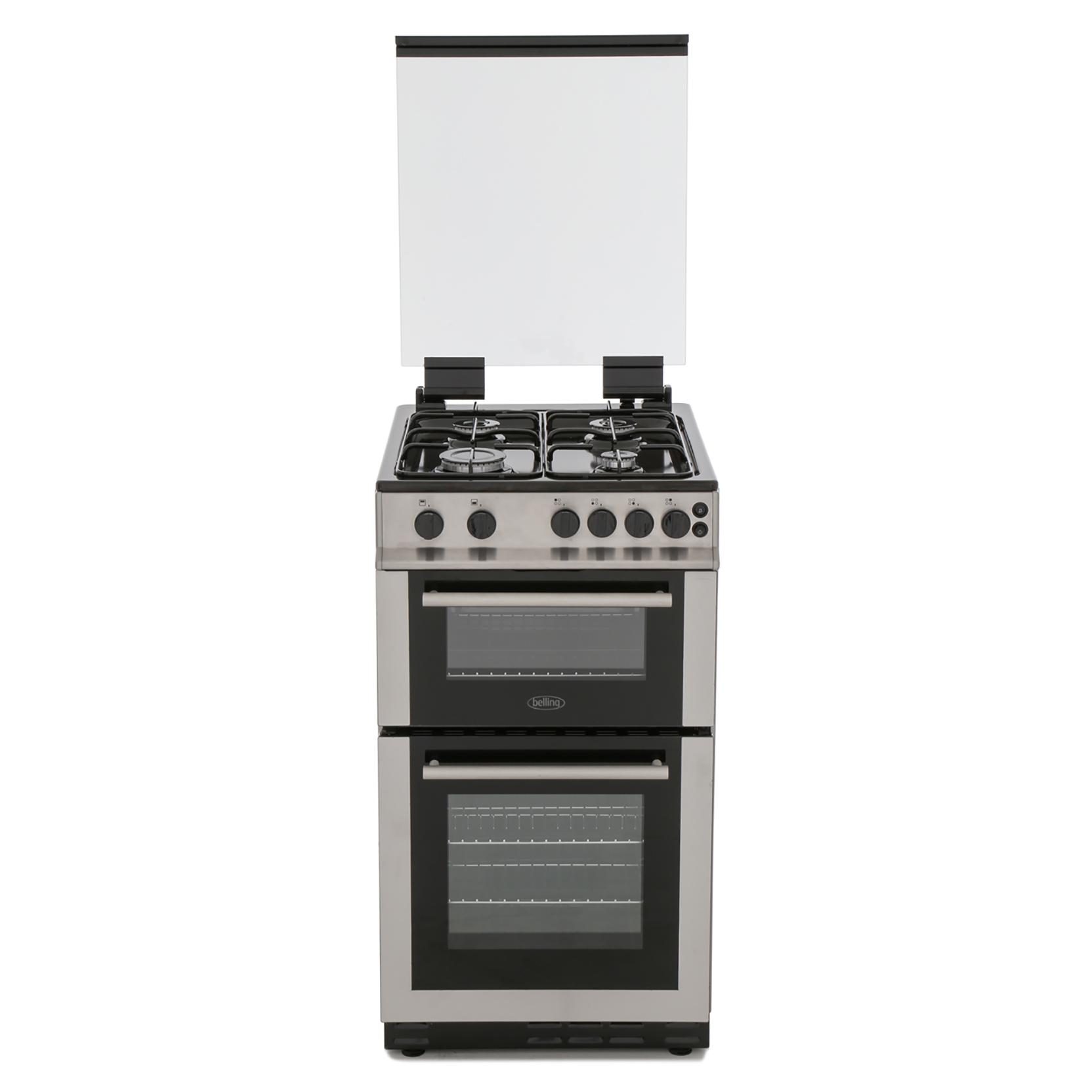 Belling FS50GTCL Stainless Steel Gas Cooker Separate Grill