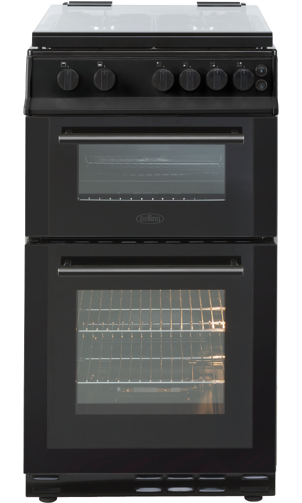 Belling FS50GDOL Black Gas Cooker with Double Oven