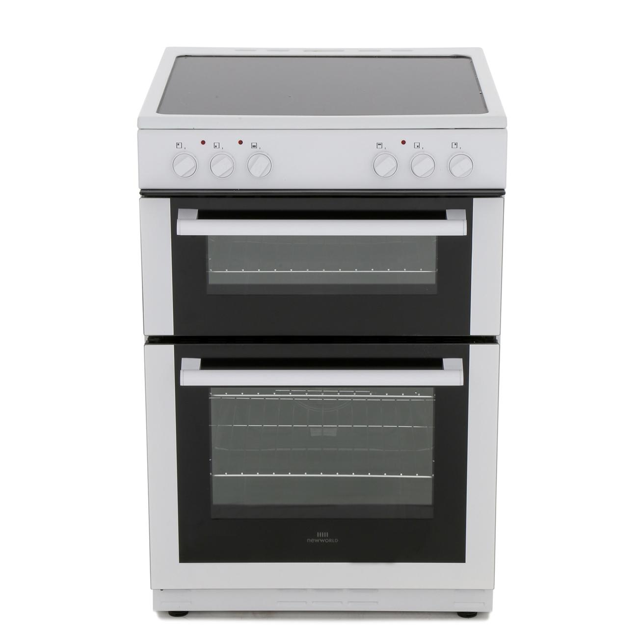 New World 60EDOC White Ceramic Electric Cooker with Double Oven