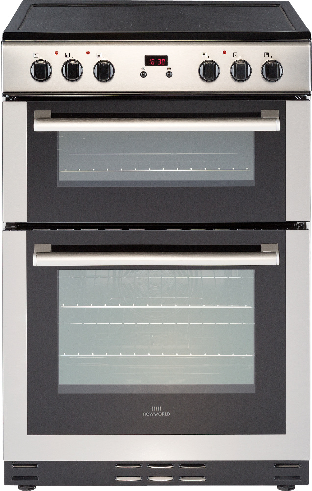 New World 60EDOMC Stainless Steel Ceramic Electric Cooker with Double Oven