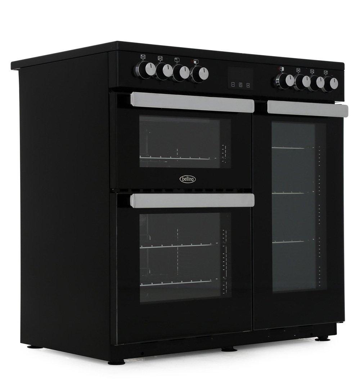 Belling Cookcentre 90E Black 90cm Electric Ceramic Range Cooker