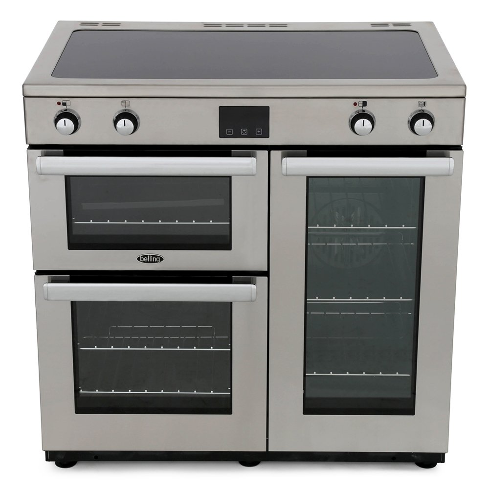 Belling Cookcentre 90Ei Professional Stainless Steel 90cm Electric Induction Range Cooker
