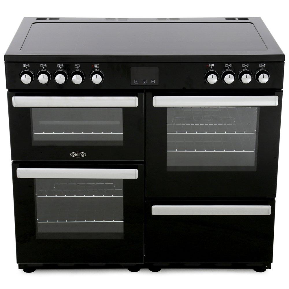 Belling Cookcentre 100E Black 100cm Electric Ceramic Range Cooker