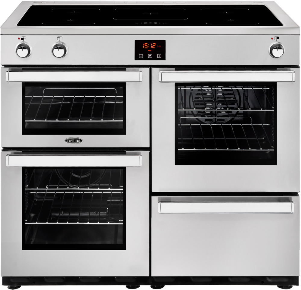 Belling Cookcentre 100Ei Professional Stainless Steel 100cm Electric Induction Range Cooker