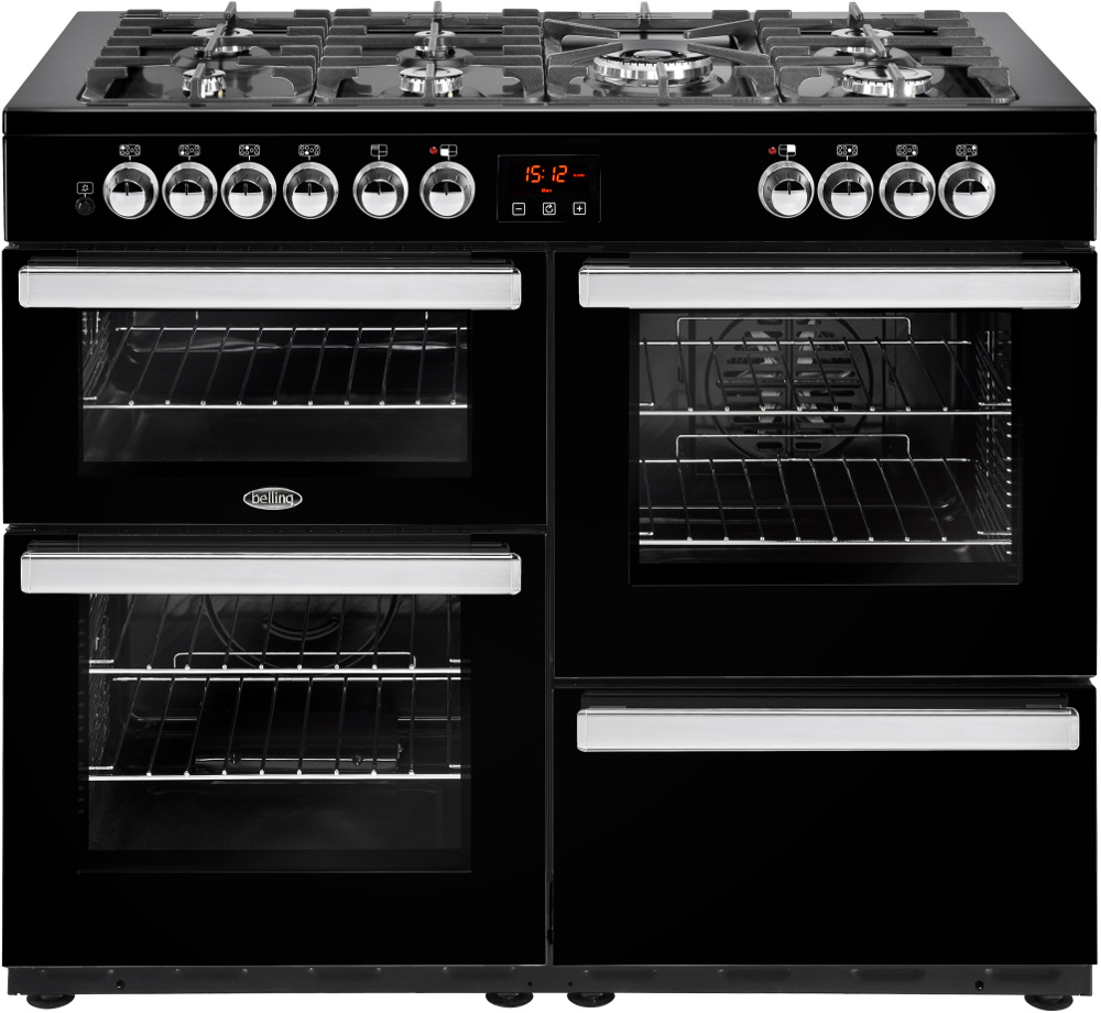 Belling Cookcentre 110DFT Black 110cm Dual Fuel Range Cooker