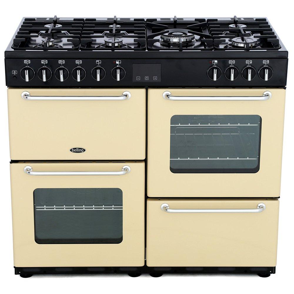 Belling Sandringham 100DFT Cream 100cm Dual Fuel Range Cooker