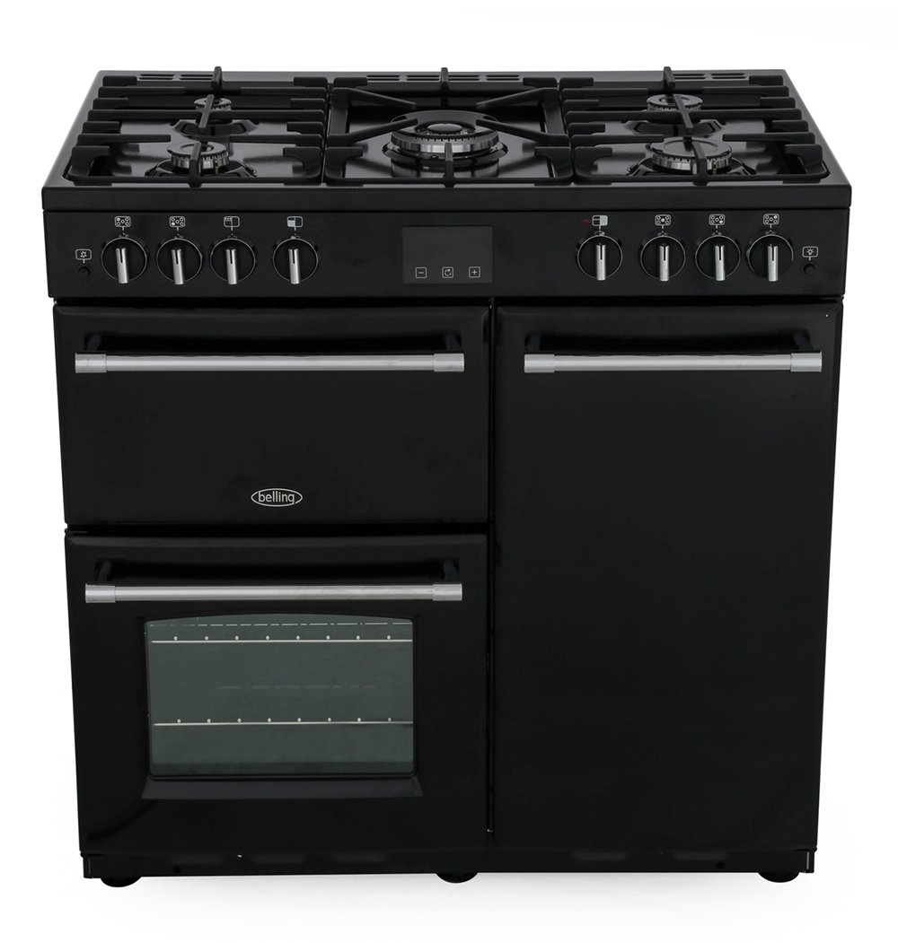 Belling Farmhouse 90G Black 90cm Gas Range Cooker