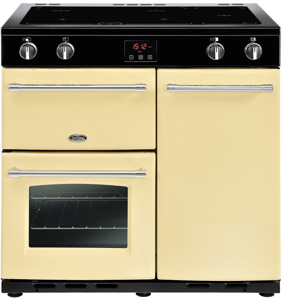 Belling Farmhouse 90Ei Cream 90cm Electric Induction Range Cooker