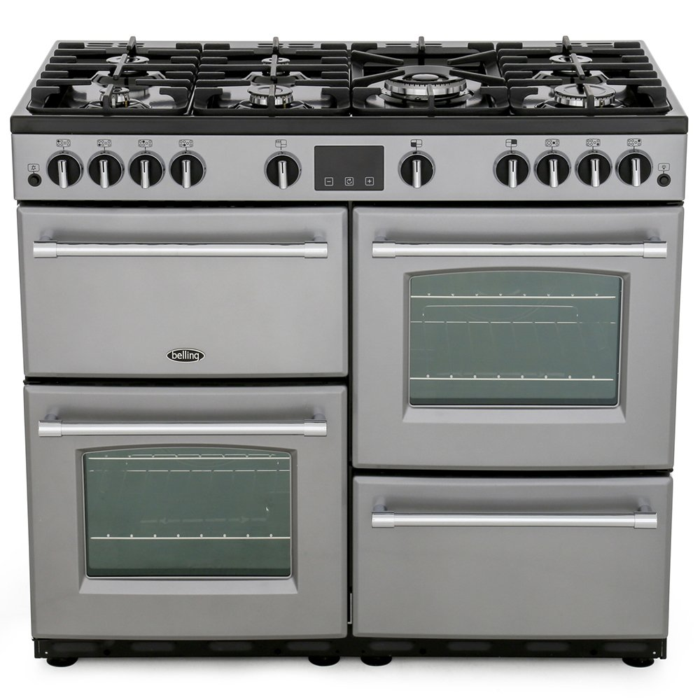 Belling Farmhouse 100G Silver 100cm Gas Range Cooker
