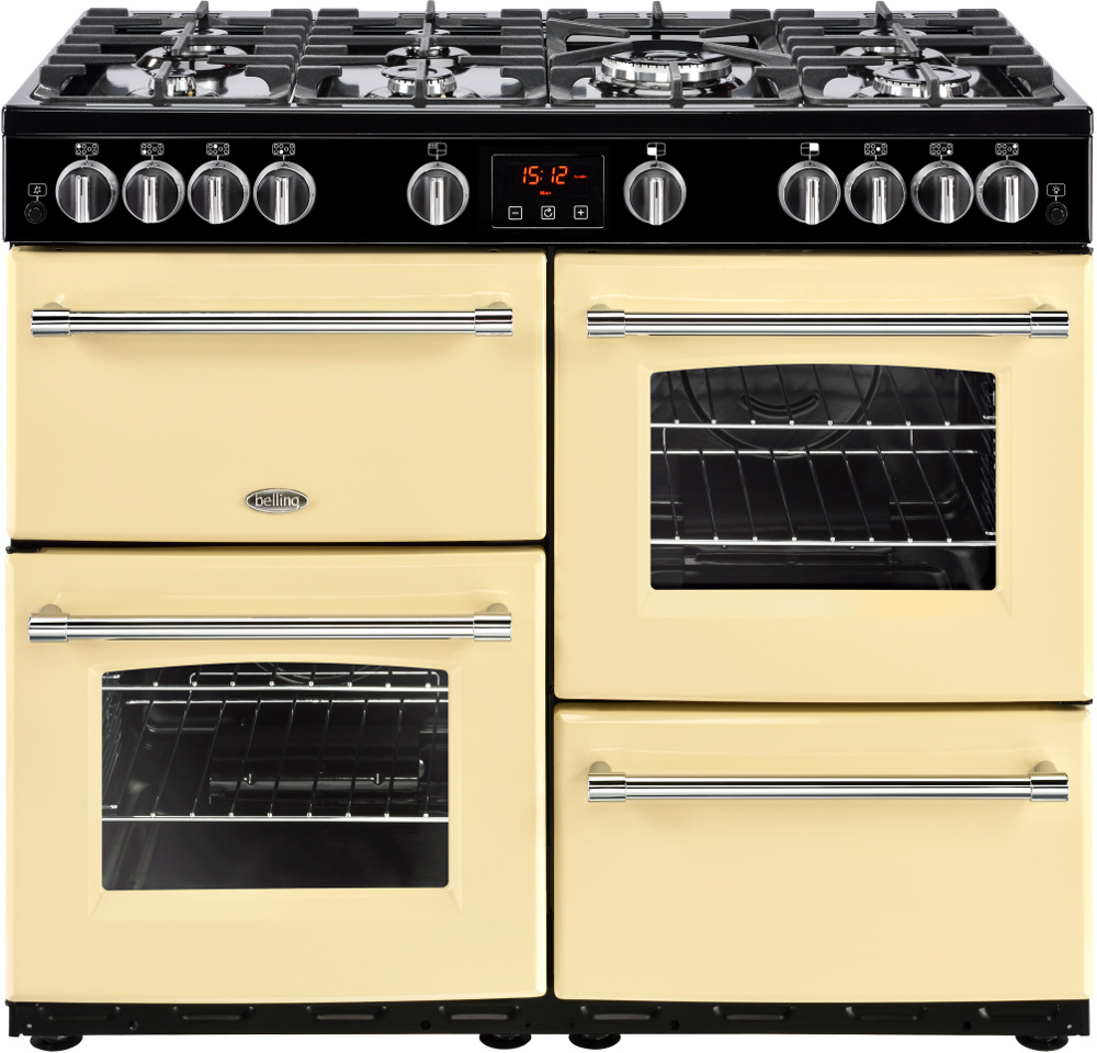 Belling Farmhouse 100G Cream 100cm Gas Range Cooker