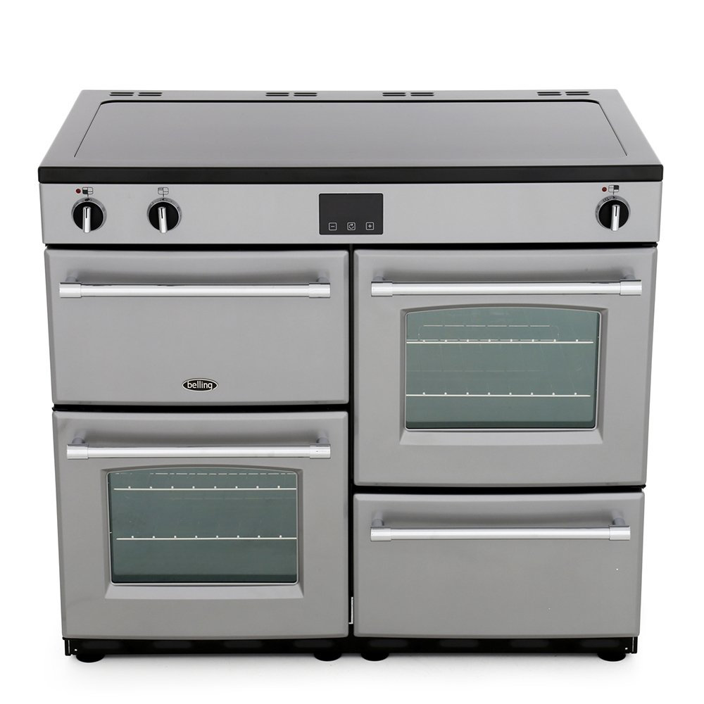Belling Farmhouse 100Ei Silver 100cm Electric Induction Range Cooker
