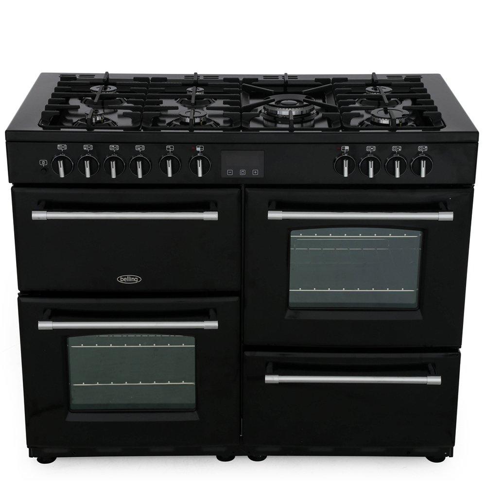 Belling Farmhouse 110DF Black 110cm Dual Fuel Range Cooker