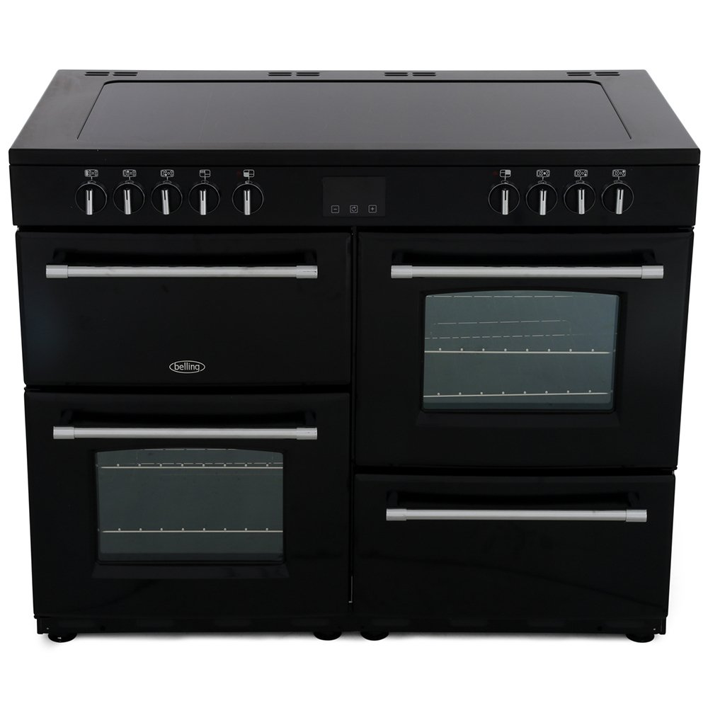 Belling Farmhouse 110E Black 110cm Electric Ceramic Range Cooker