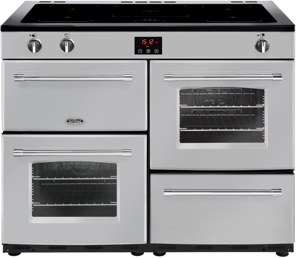 Belling Farmhouse 110Ei Silver 110cm Electric Induction Range Cooker