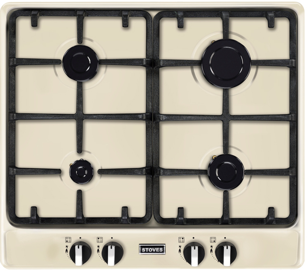Stoves ST Richmond 600GH Cream 4 Burner Gas Hob