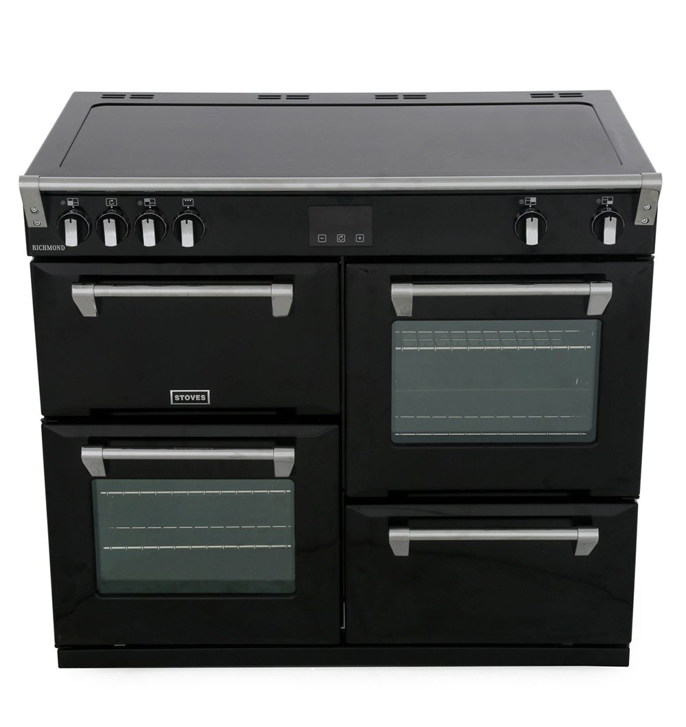 Stoves Richmond S1000Ei Black 100cm Electric Induction Range Cooker