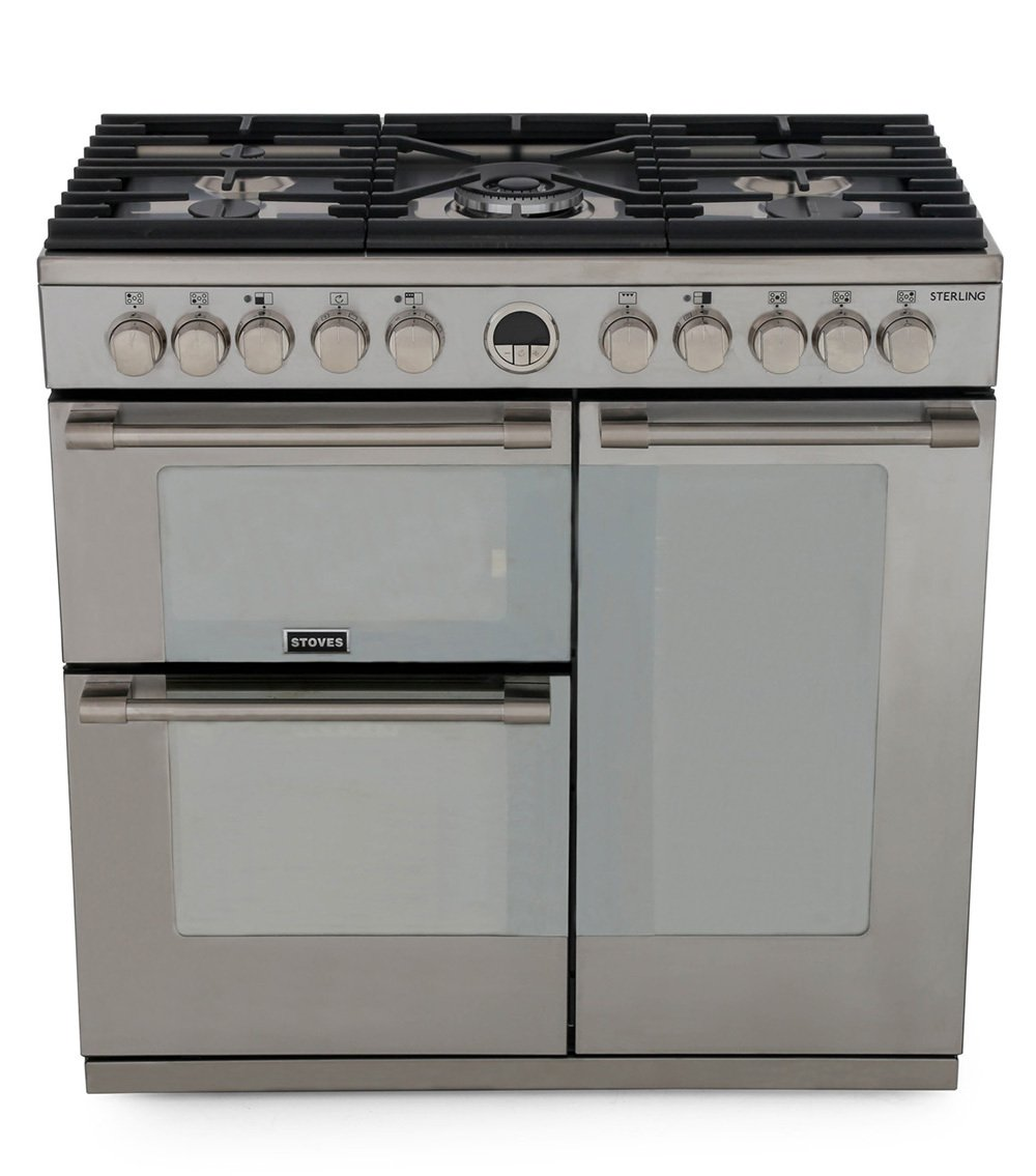 Stoves Sterling S900DF Stainless Steel 90cm Dual Fuel Range Cooker