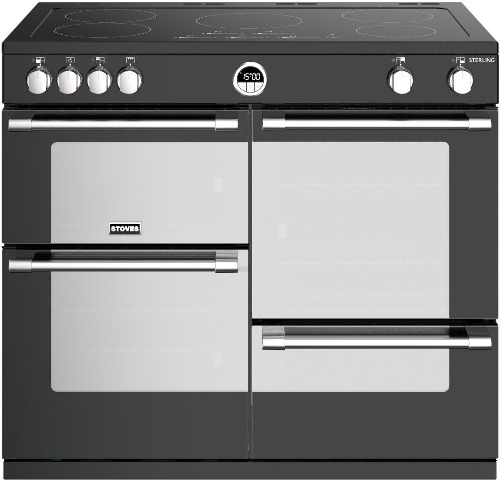 Stoves Sterling S1000Ei Black 100cm Electric Induction Range Cooker