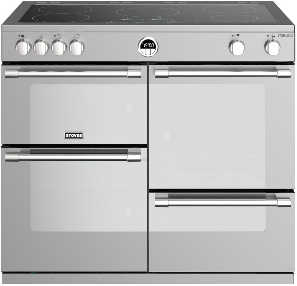 Stoves Sterling S1000Ei Stainless Steel 100cm Electric Induction Range Cooker