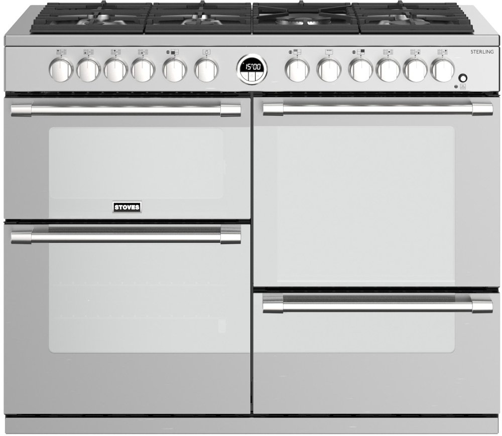 Stoves Sterling S1100DF Stainless Steel 110cm Dual Fuel Range Cooker