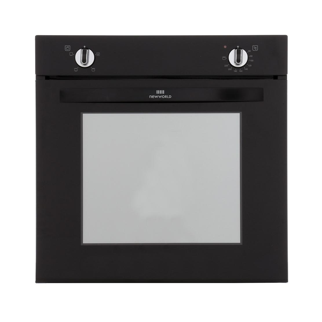 New World NW602V Black Single Built In Electric Oven