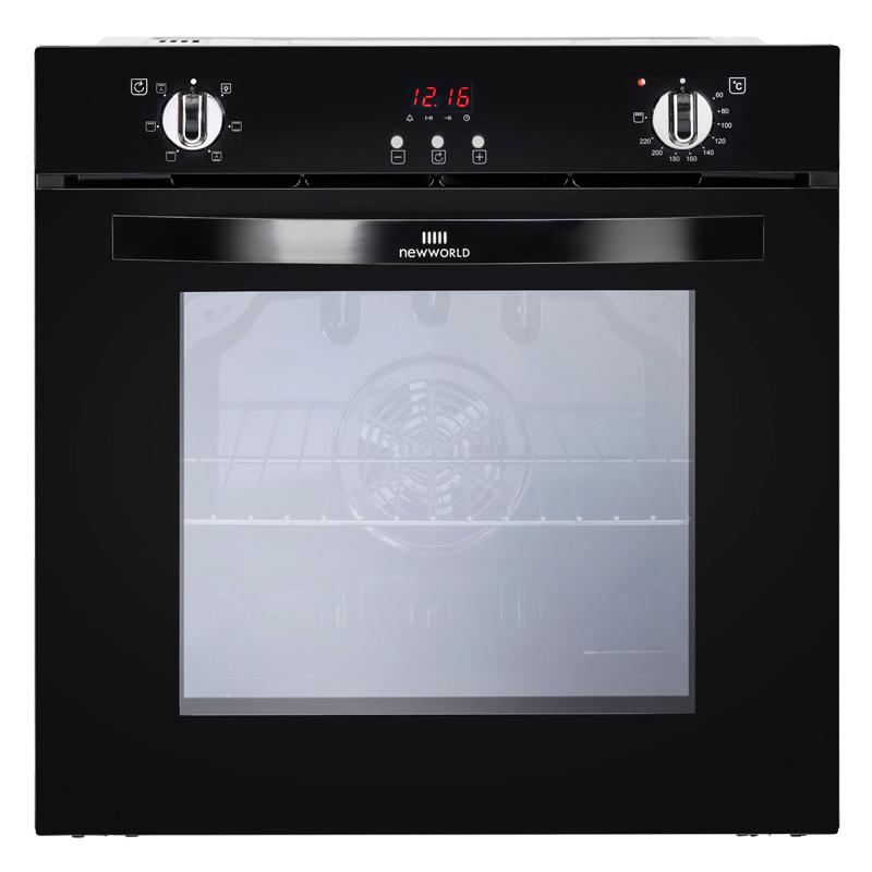 New World NW602FP Black Single Built In Electric Oven