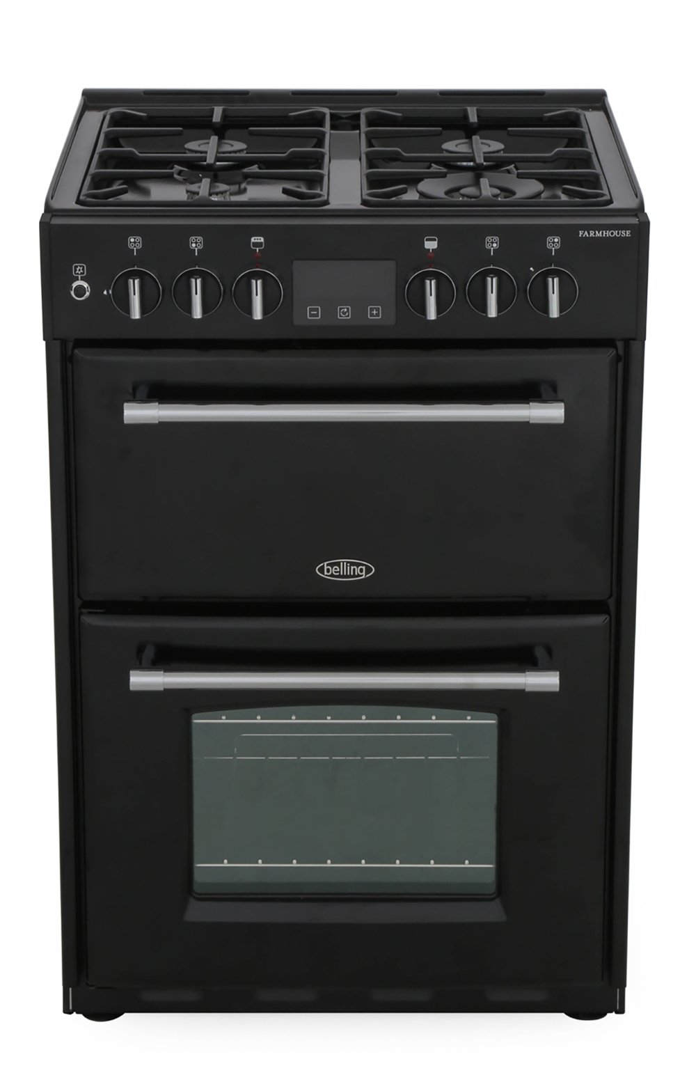 Belling Farmhouse 60DF Black Dual Fuel Cooker with Double Oven