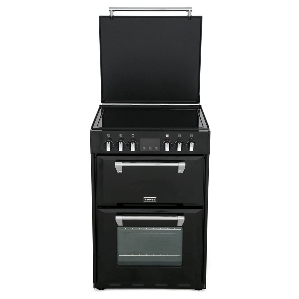 Stoves Richmond 600E Black Ceramic Electric Cooker with Double Oven