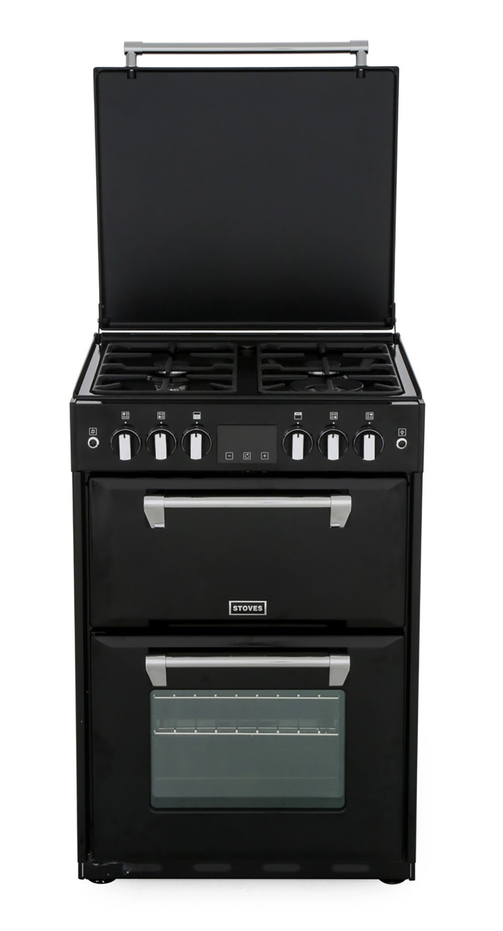 Stoves Richmond 600G Black Gas Cooker with Double Oven