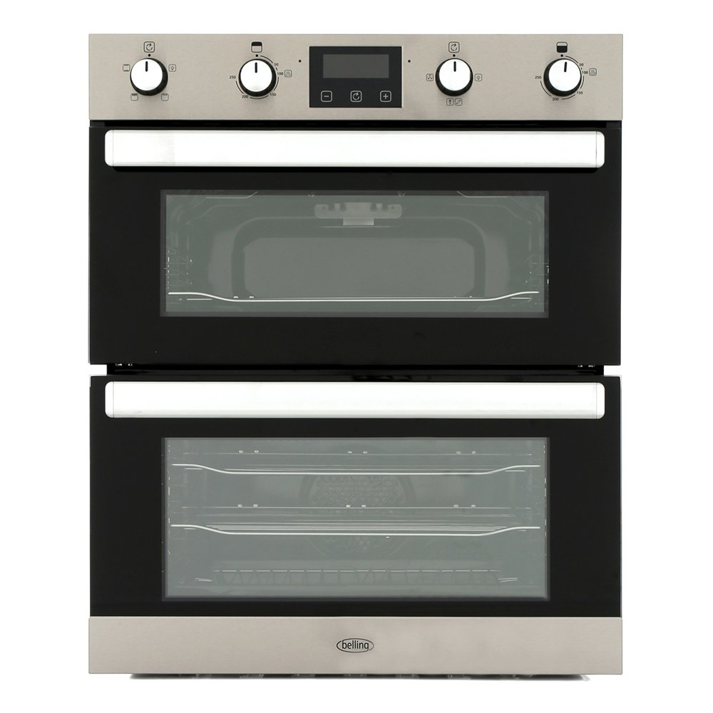 Belling BI702FPCT Stainless Steel Double Built Under Electric Oven