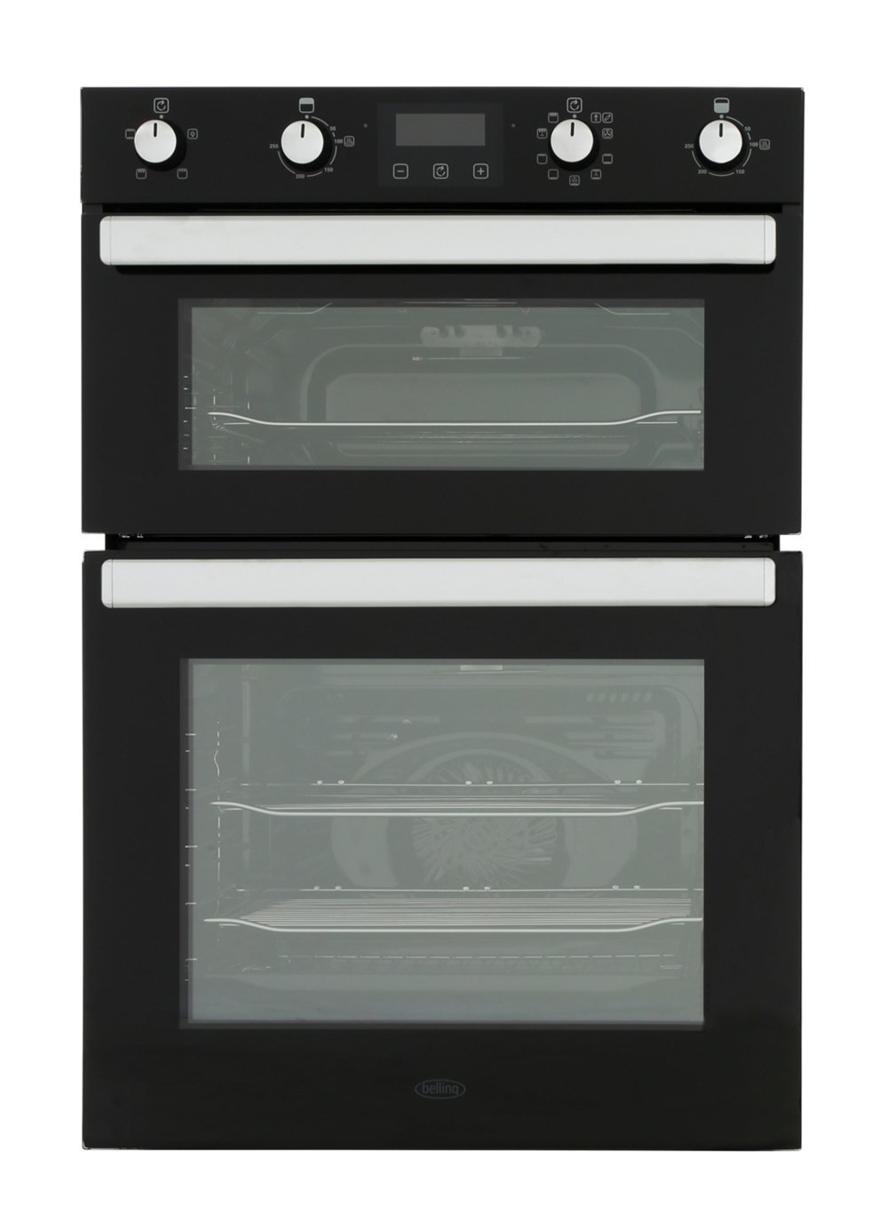Belling BI902MFCT Black Double Built In Electric Oven