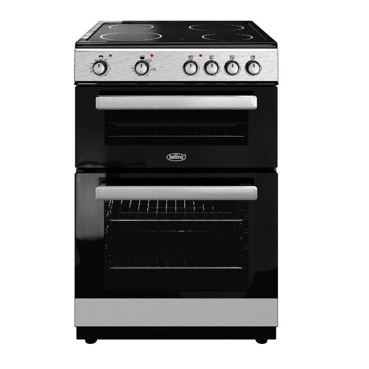 Belling FSE608D Silver Electric Cooker with Double Oven