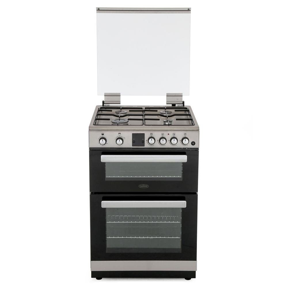 Belling FSG608DMc Stainless Steel Gas Cooker with Double Oven