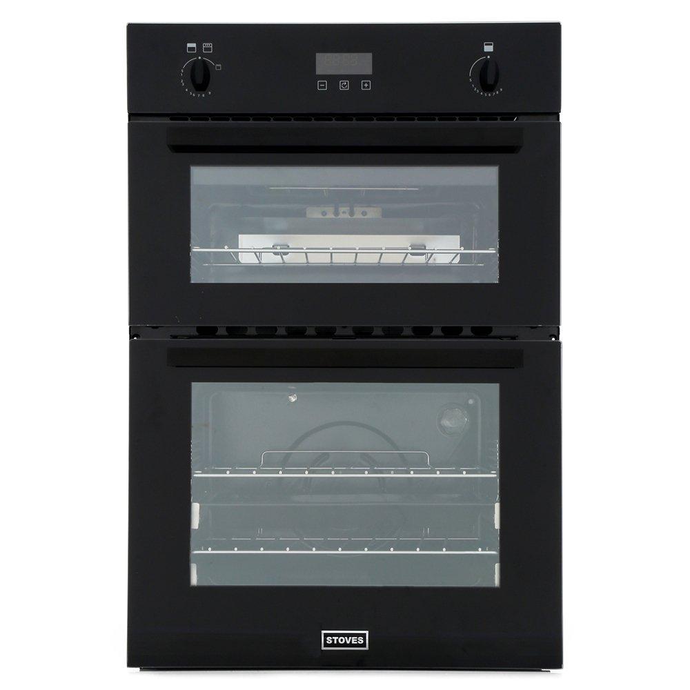 Stoves BI900 G Black Double Built In Gas Oven