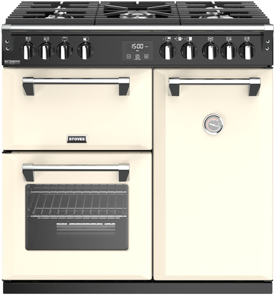 Stoves Richmond Deluxe S900G Classic Cream 90cm Gas Range Cooker