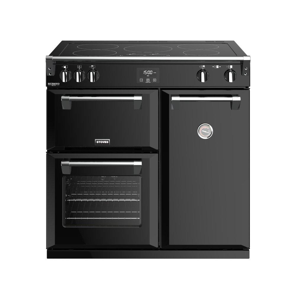 Stoves Richmond Deluxe S900Ei Black 90cm Electric Induction Range Cooker