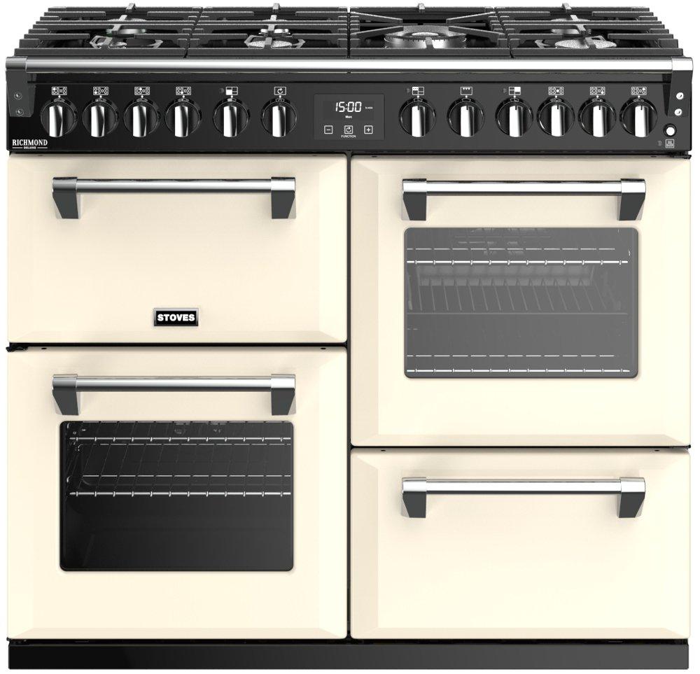 Stoves Richmond Deluxe S1000DF Classic Cream 100cm Dual Fuel Range Cooker