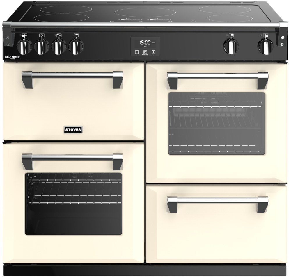 Stoves Richmond Deluxe S1000Ei Classic Cream 100cm Electric Induction Range Cooker